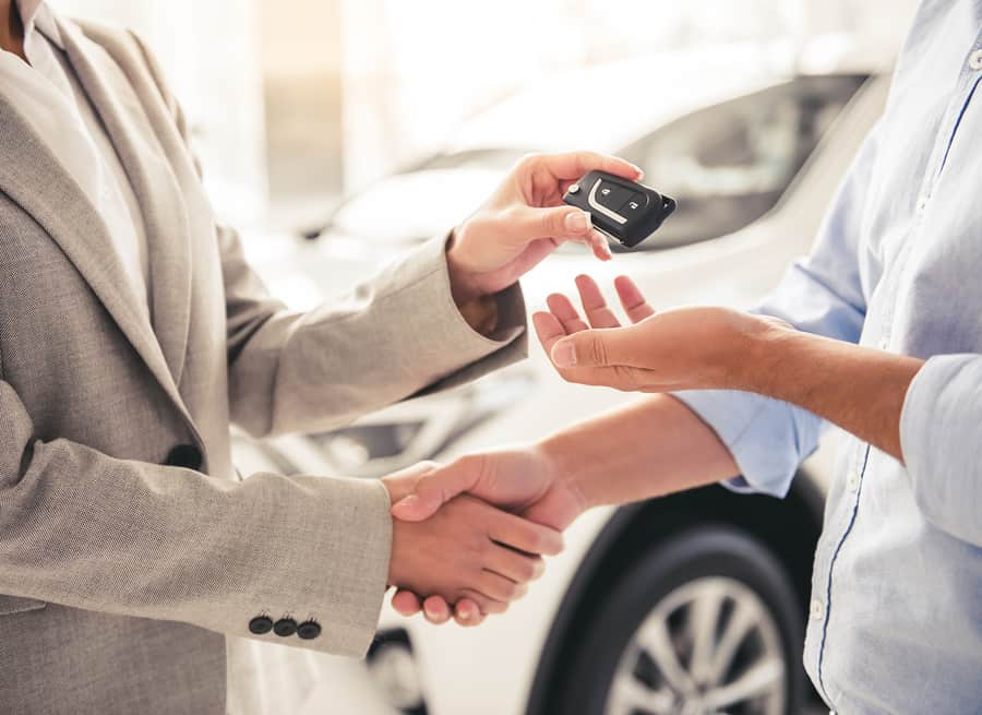Car sale handshake