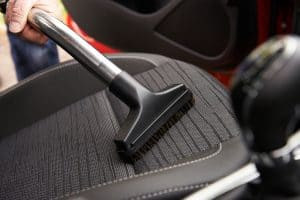 hoovering car seat
